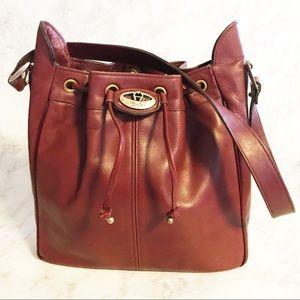 Vintage Etienne Aigner Burgundy Bucket Bag